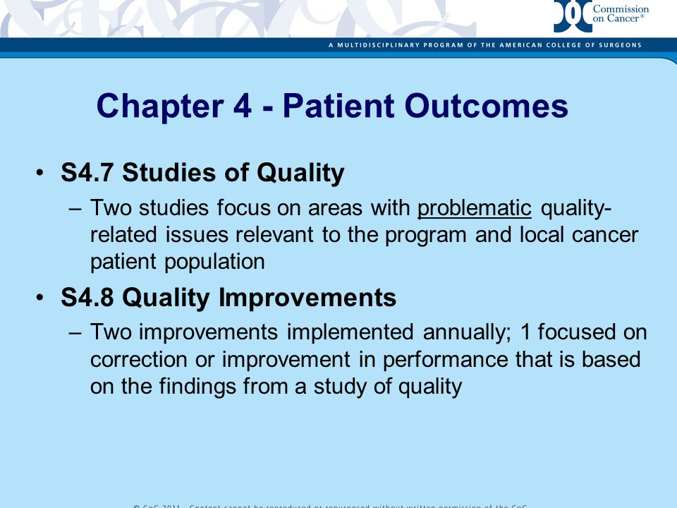 Chapter 4 - Patient Outcomes