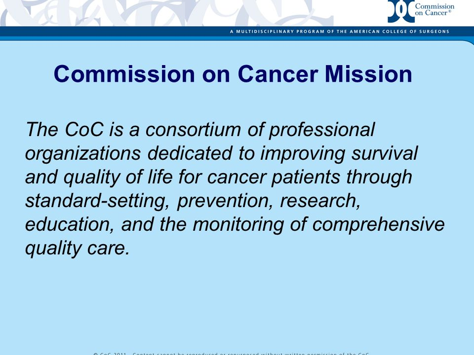 Commission on Cancer Mission