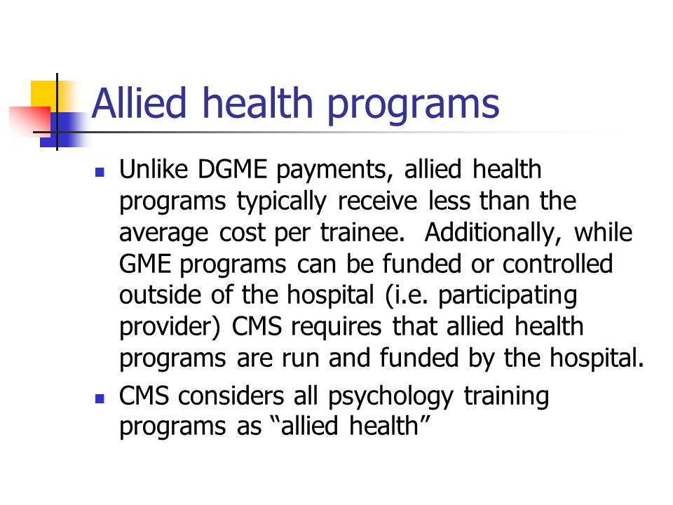 Allied health programs