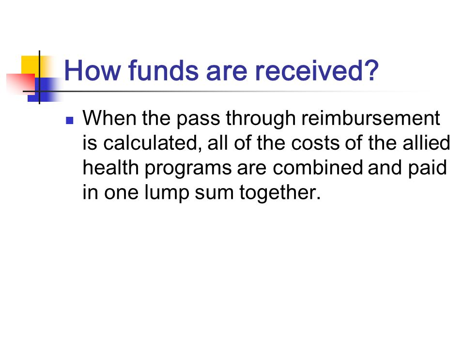 How funds are received