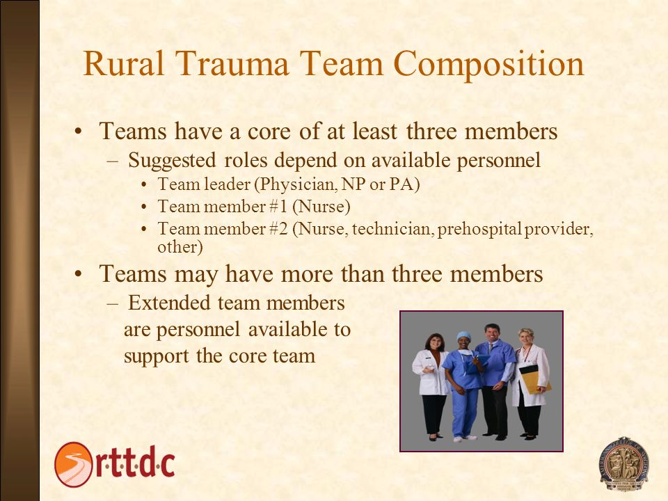 Rural Trauma Team Composition