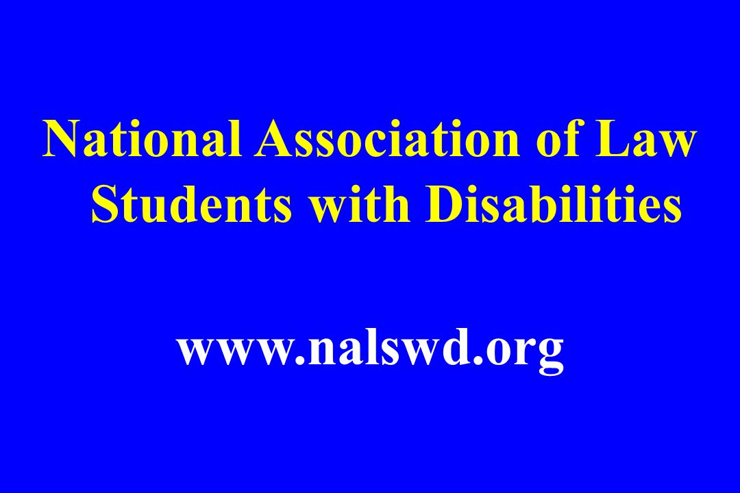 National Association of Law Students with Disabilities