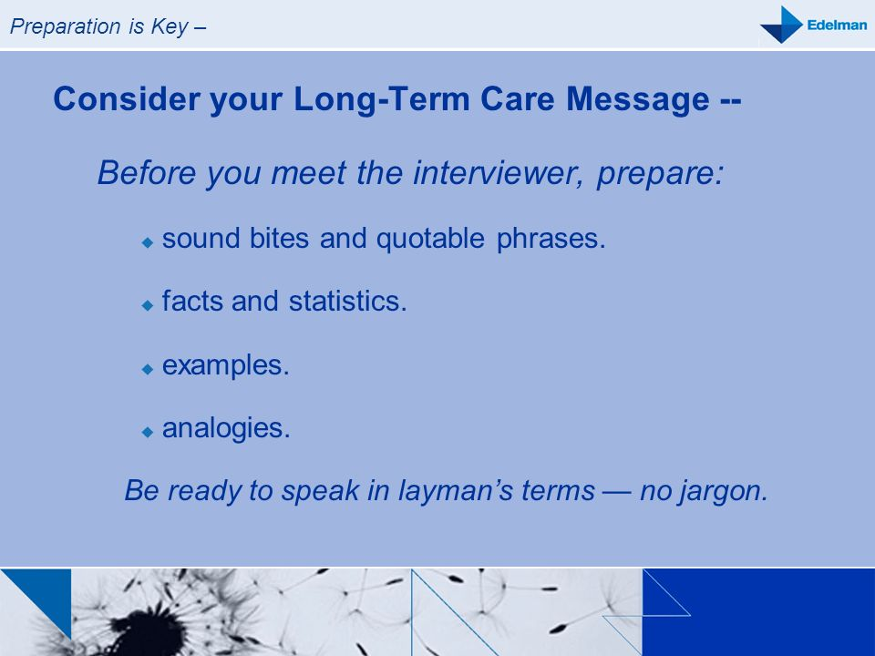 Consider your Long-Term Care Message --