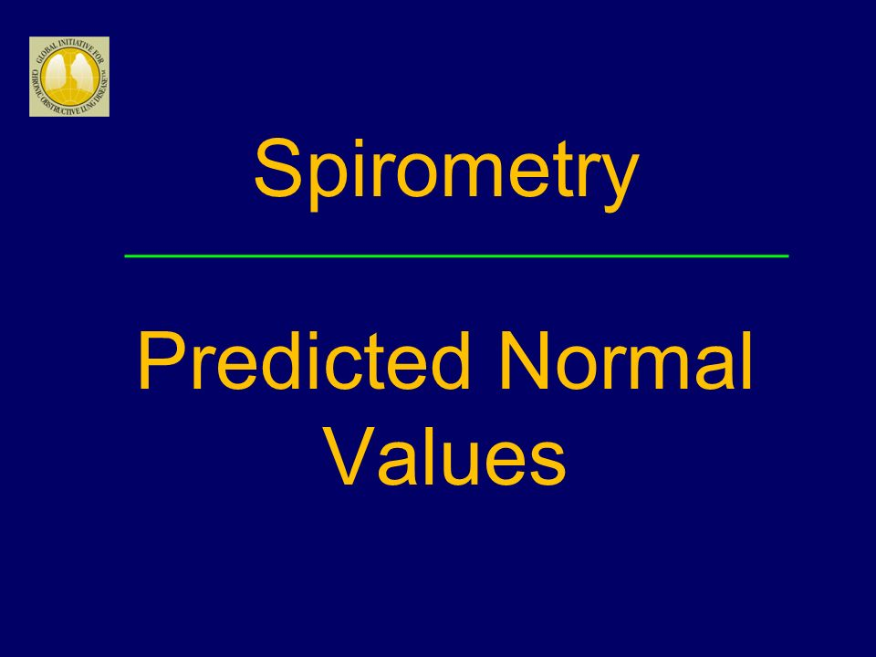 Spirometry Predicted Normal Values