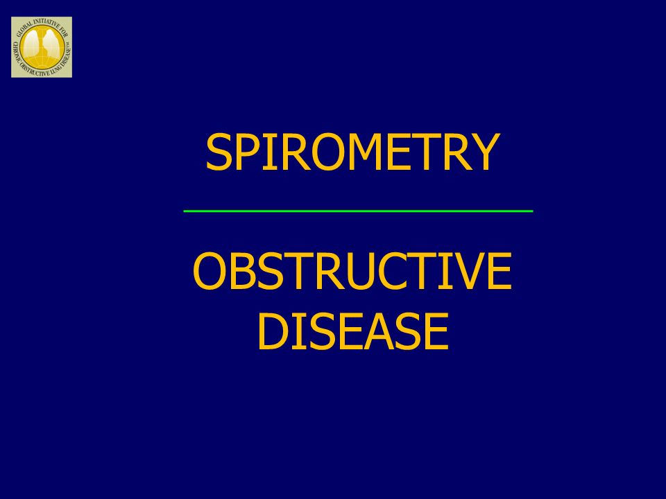 SPIROMETRY OBSTRUCTIVE DISEASE