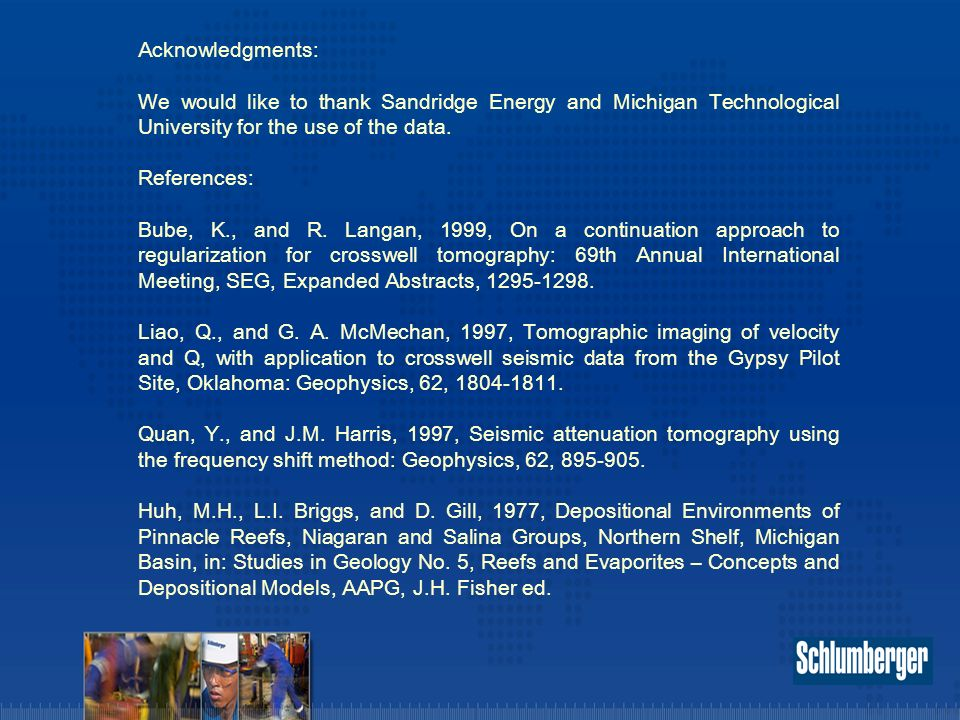 Acknowledgments: We would like to thank Sandridge Energy and Michigan Technological University for the use of the data.