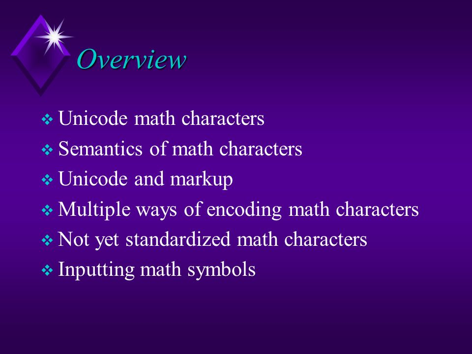 Unicode Support For Mathematics Ppt Download