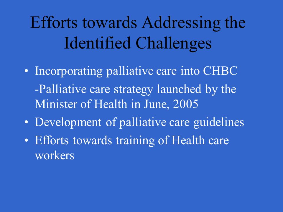 Efforts towards Addressing the Identified Challenges