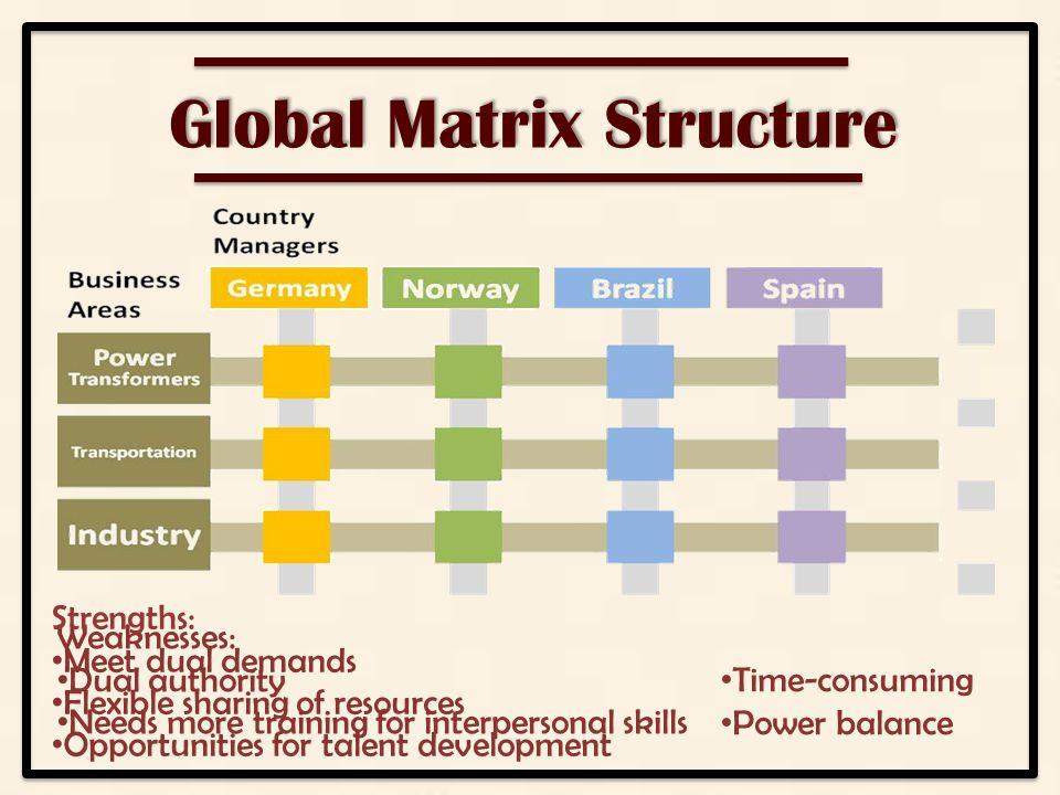 abb case study matrix organization