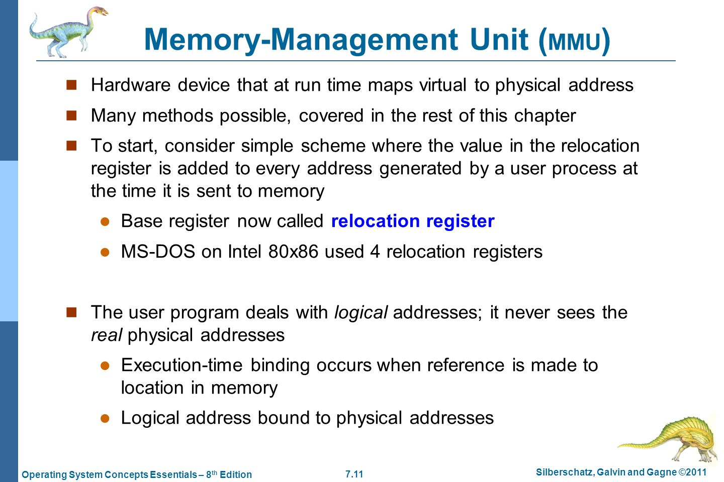 Chapter 7: Main Memory  - ppt video online download
