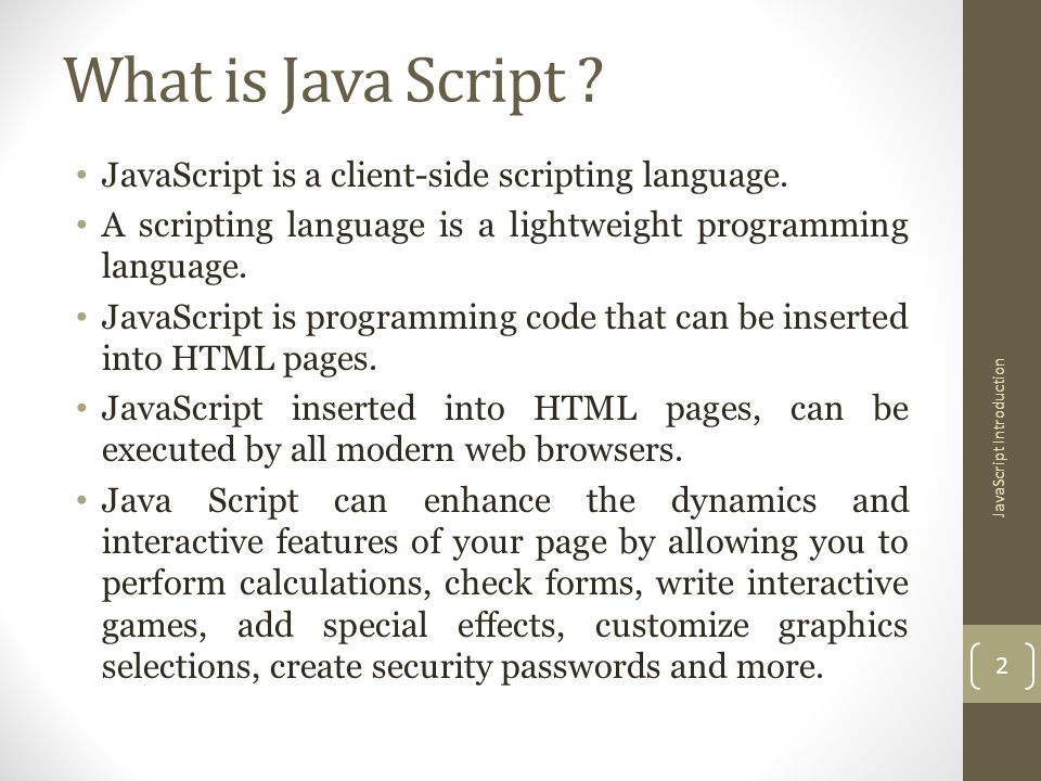 JavaScript Introduction - ppt video online download