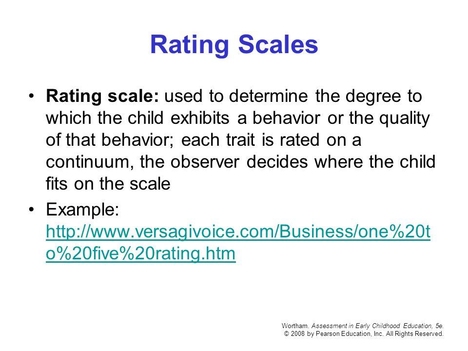 early childhood observation samples