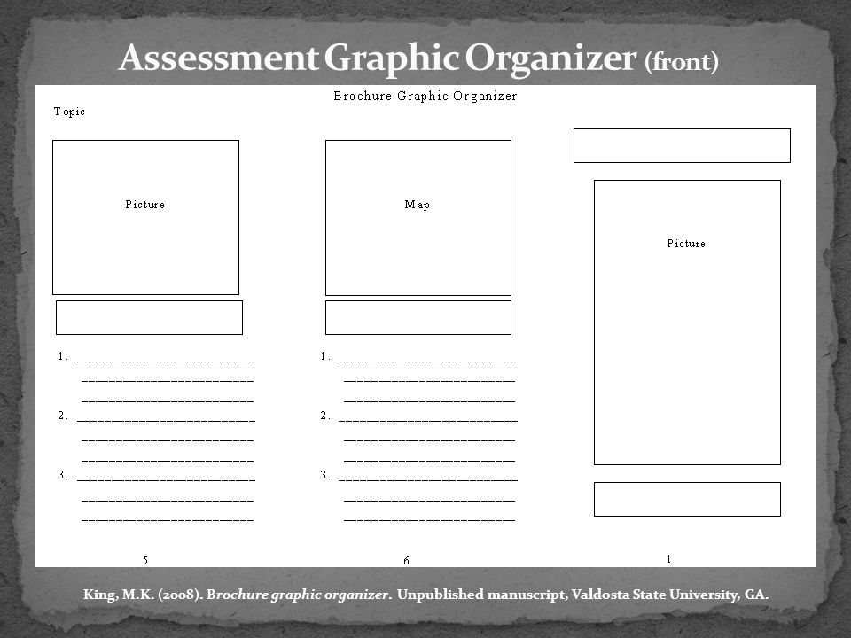 Assessment Graphic Organizer (front)