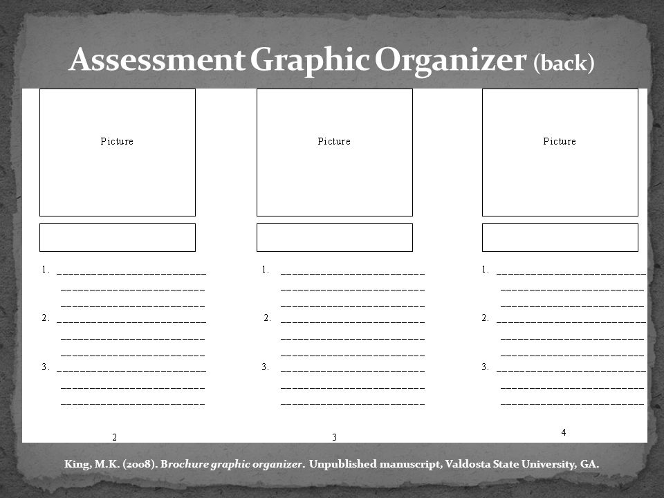 Assessment Graphic Organizer (back)