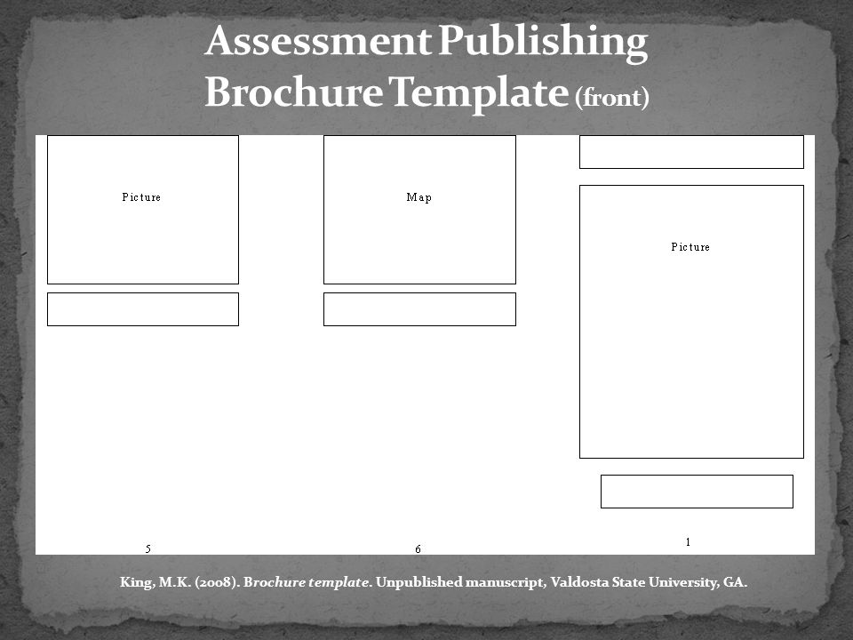 Assessment Publishing Brochure Template (front)