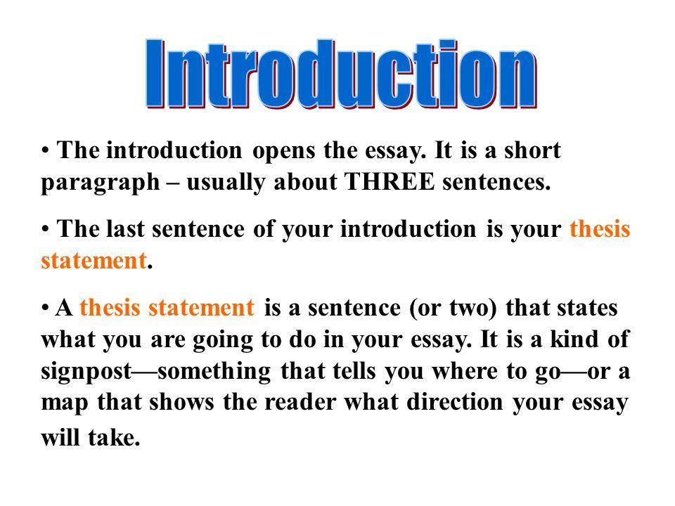 how many sentences in a short essay