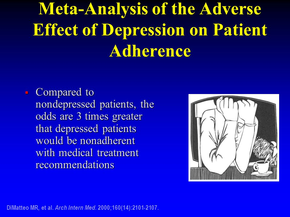 Meta-Analysis of the Adverse Effect of Depression on Patient Adherence