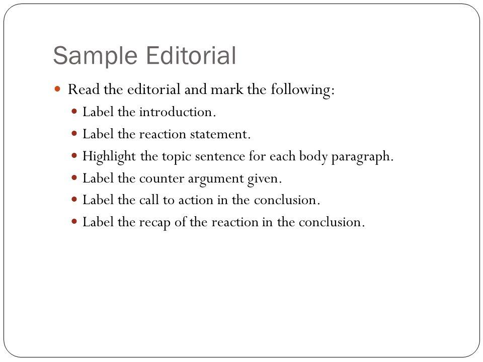 editorial essay sample