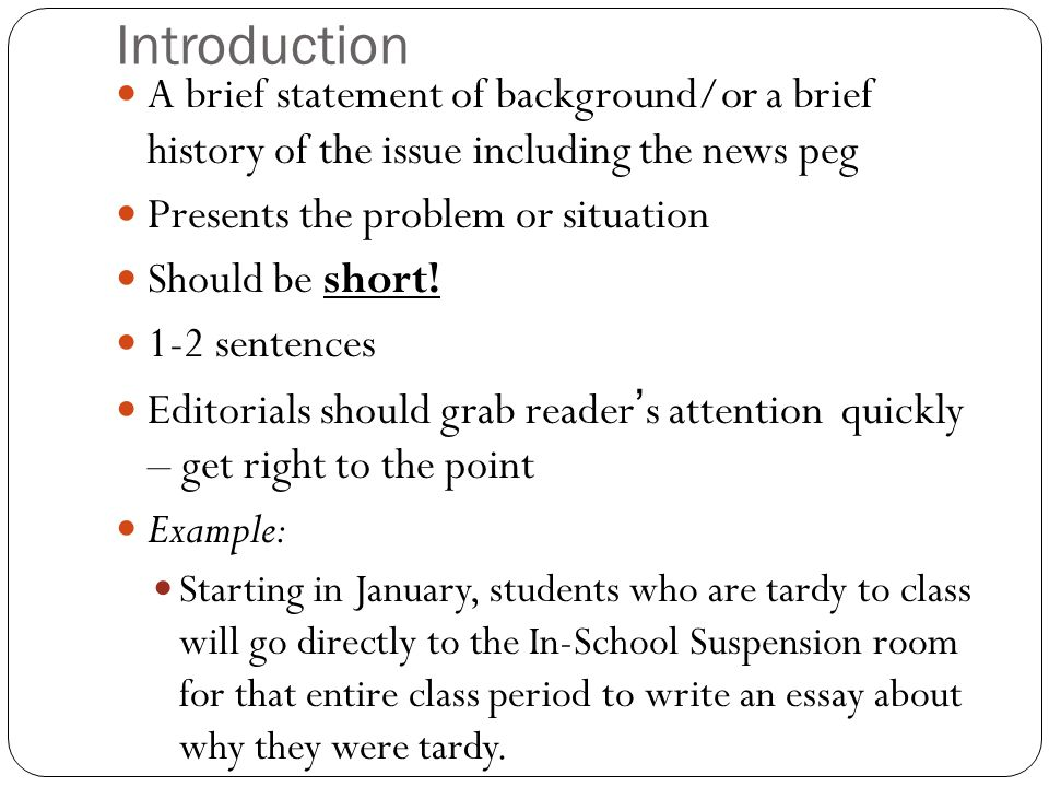 What Is An Editorial An Article That States The Newspapers Stance   Introduction