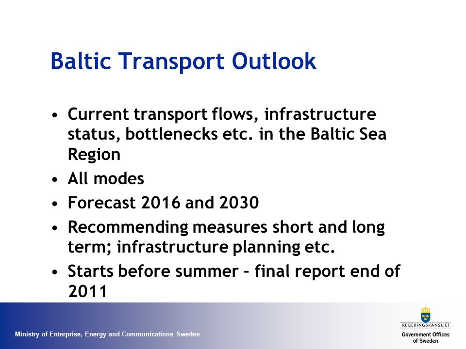 Baltic Transport Outlook