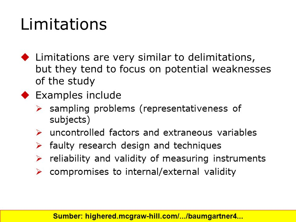 Community answer(limitation,delimitation).