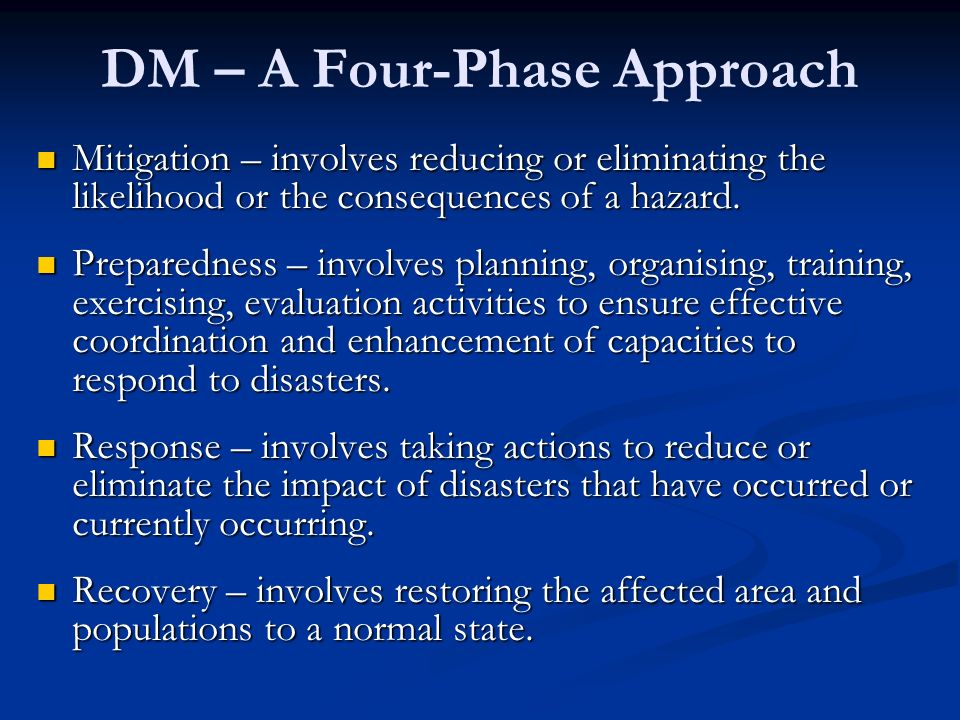 DM – A Four-Phase Approach