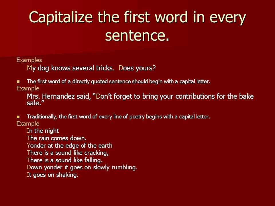 sentence with every letter using capital letters correctly ppt 881