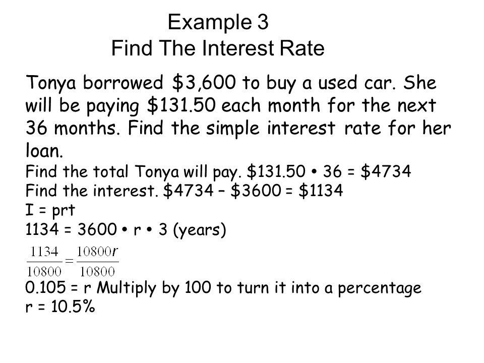 Lesson 5 8 Simple Interest Ppt Video Online Download