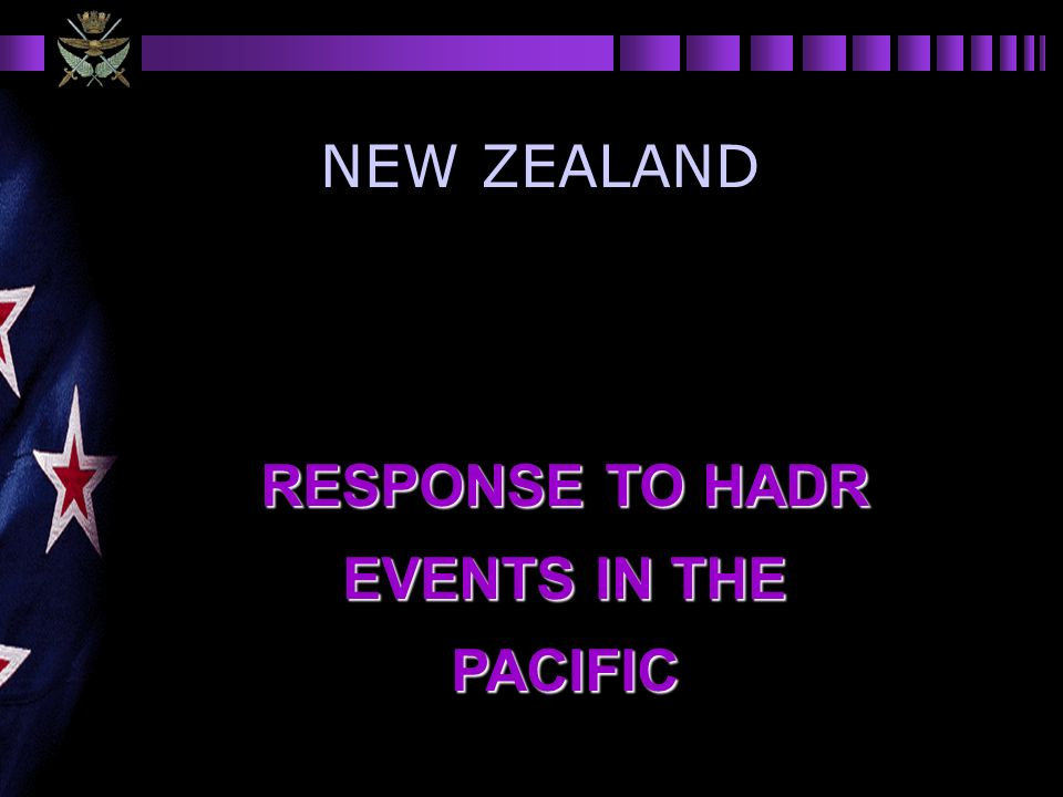 RESPONSE TO HADR EVENTS IN THE PACIFIC