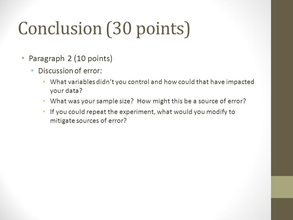 lab report discussion sample