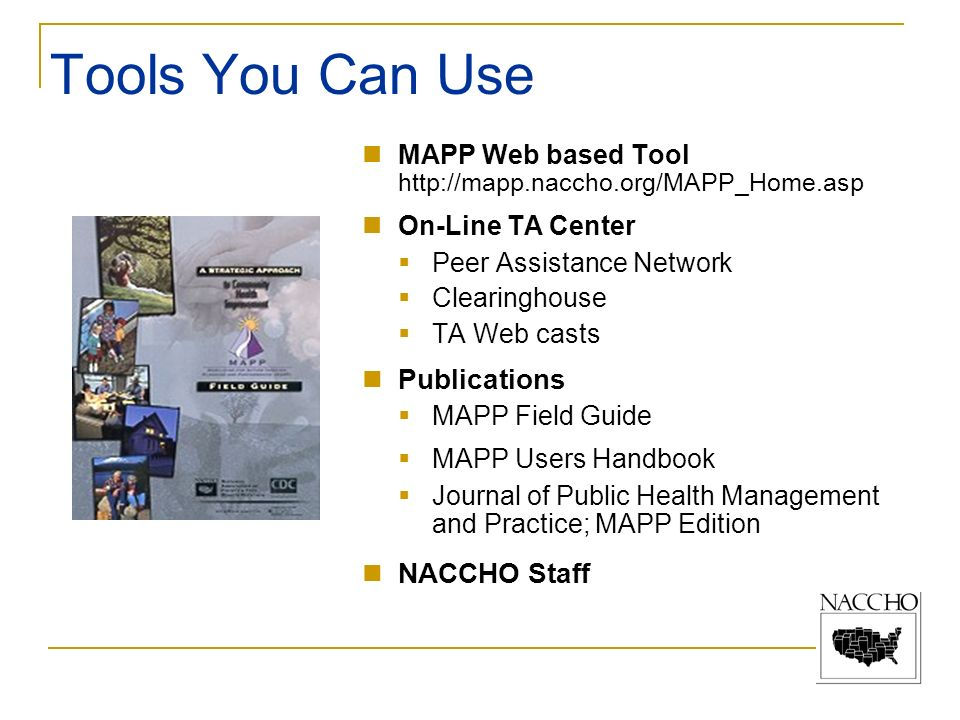 Tools You Can Use Publications NACCHO Staff
