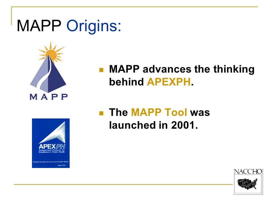 MAPP Origins: MAPP advances the thinking behind APEXPH.