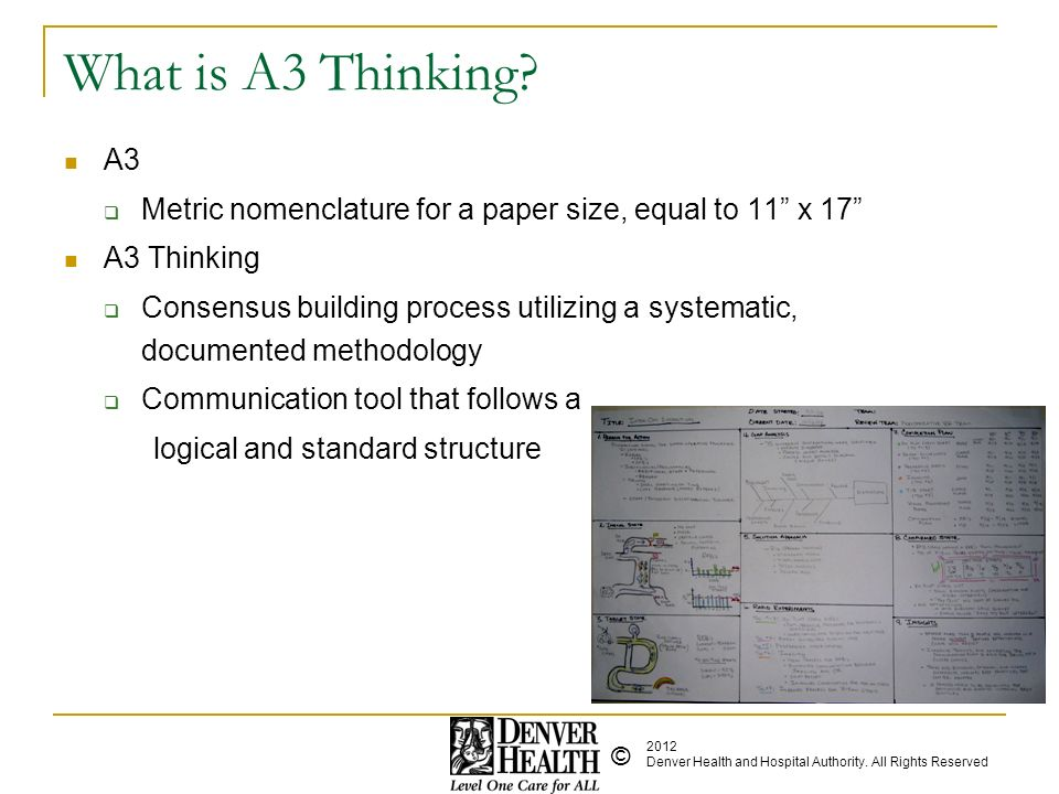 What is A3 Thinking A3. Metric nomenclature for a paper size, equal to 11 x 17 A3 Thinking.