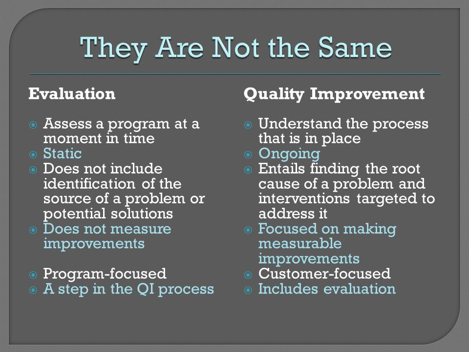 They Are Not the Same Evaluation Quality Improvement