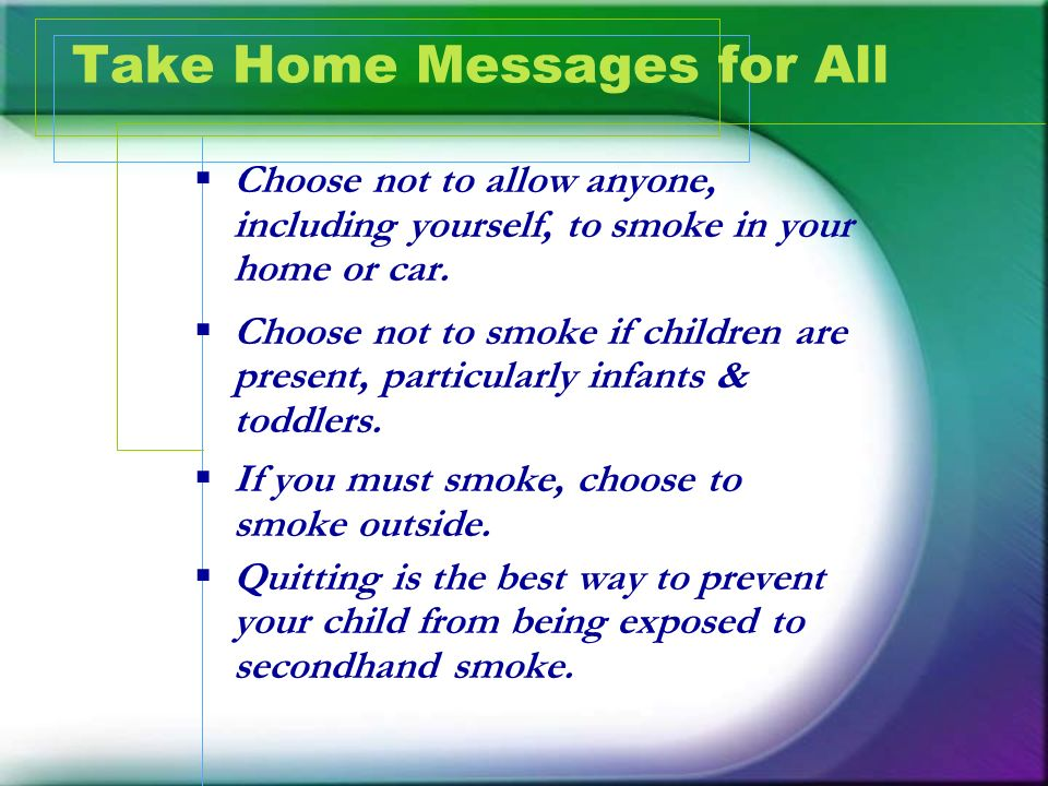 Take Home Messages for All