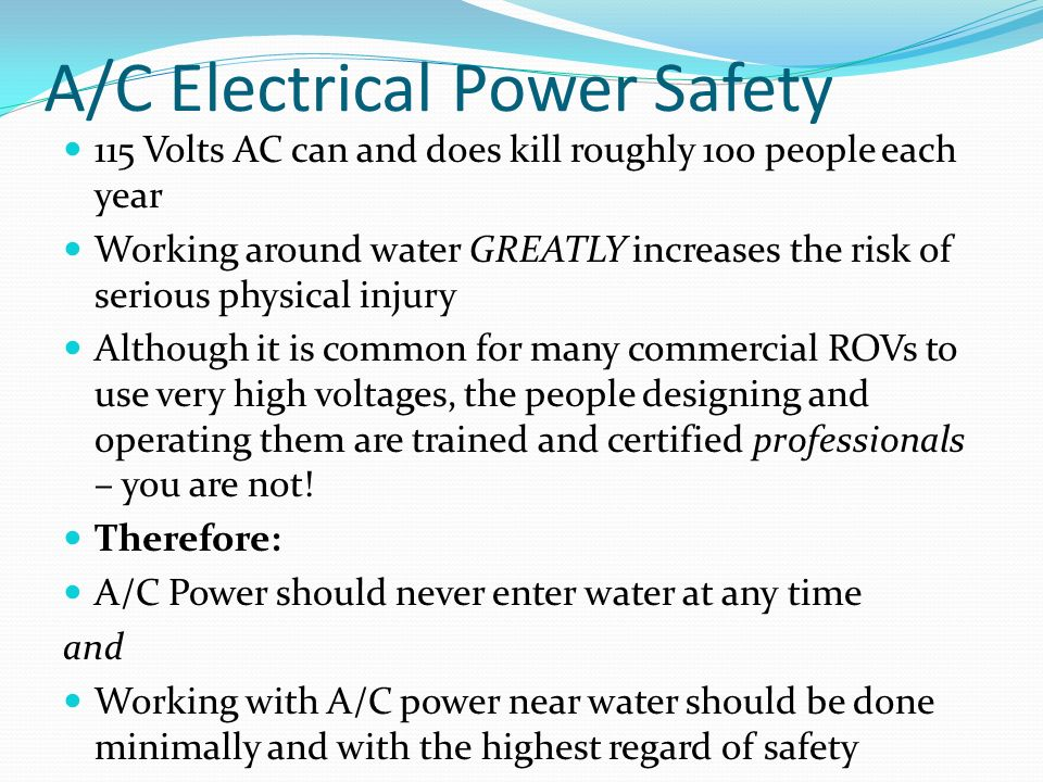 Safety High Voltage Electricity and Water are a Dangerous ...