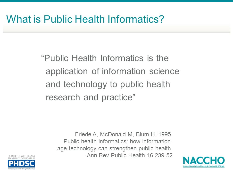 What is Public Health Informatics