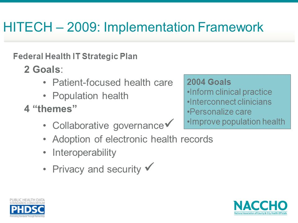 HITECH – 2009: Implementation Framework