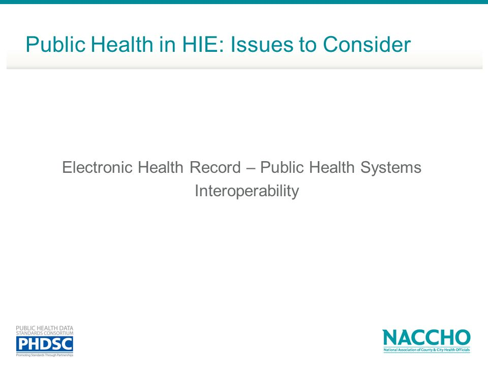 Electronic Health Record – Public Health Systems Interoperability
