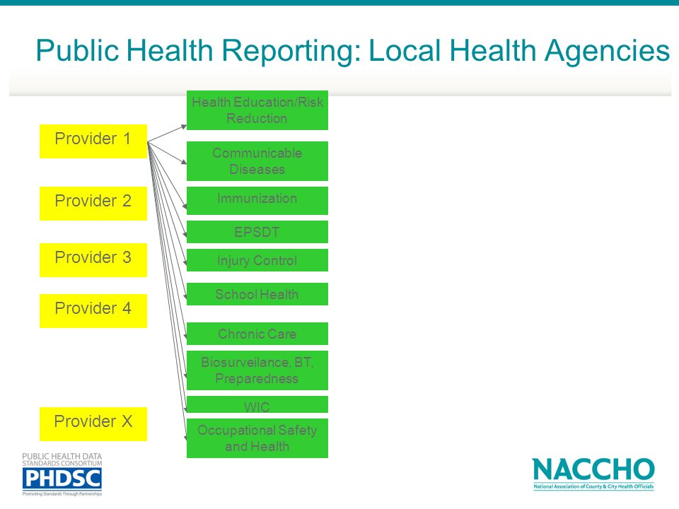 Public Health Reporting: Local Health Agencies
