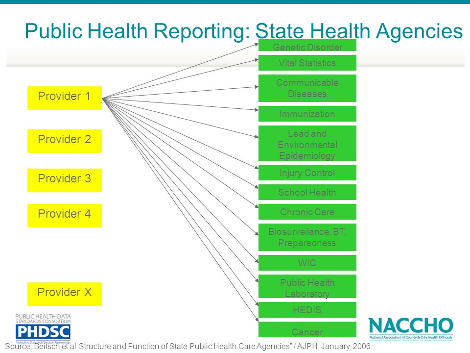Public Health Reporting: State Health Agencies