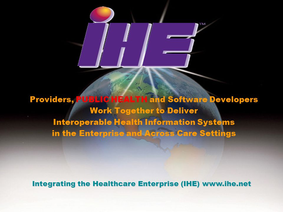 Providers, PUBLIC HEALTH and Software Developers