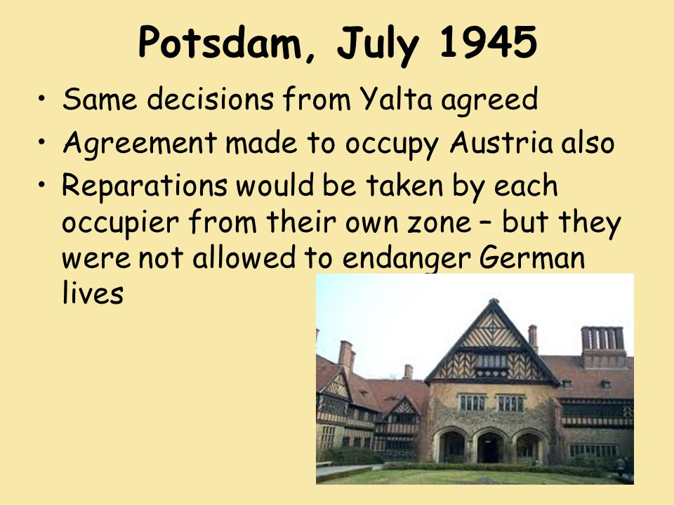 Yalta And Potsdam Conferences Ppt Video Online Download