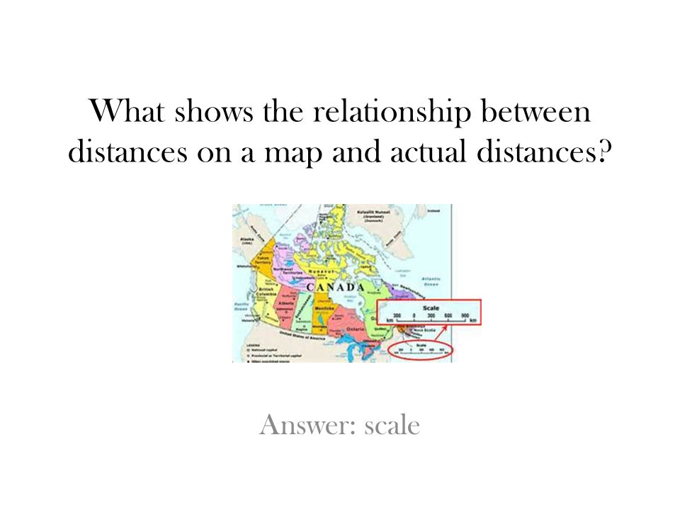 What shows the relationship between distances on a map and actual distances