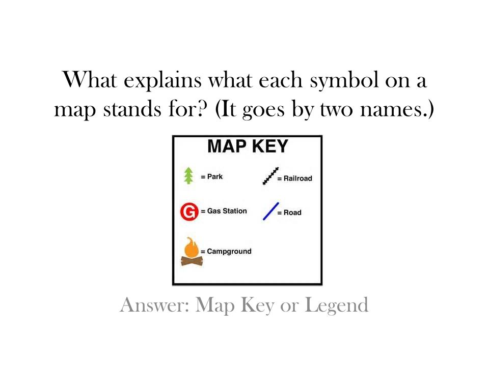 Answer: Map Key or Legend