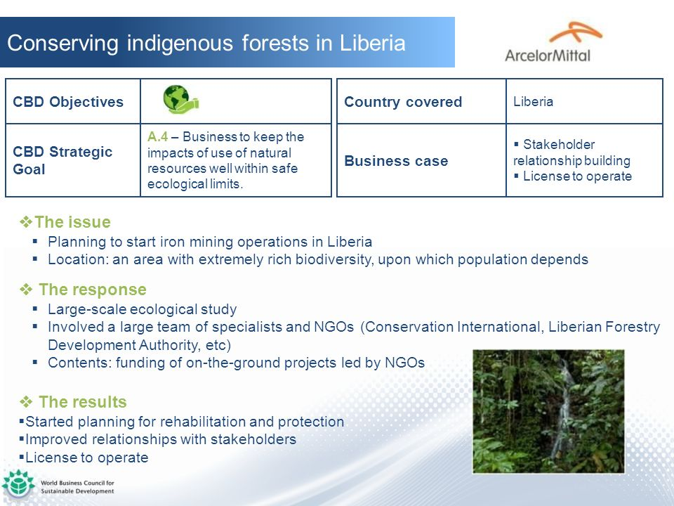Conserving indigenous forests in Liberia