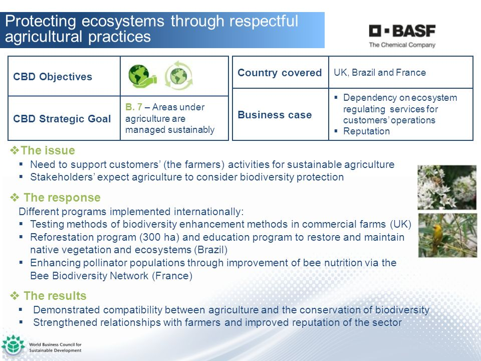 Protecting ecosystems through respectful agricultural practices