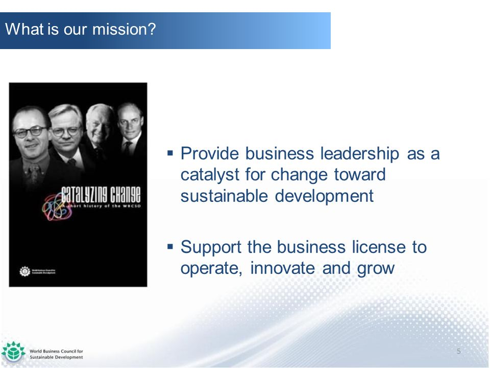 Support the business license to operate, innovate and grow