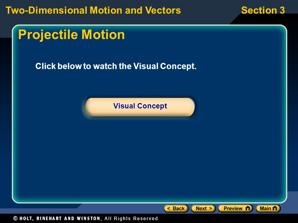 Projectile Motion Click below to watch the Visual Concept.