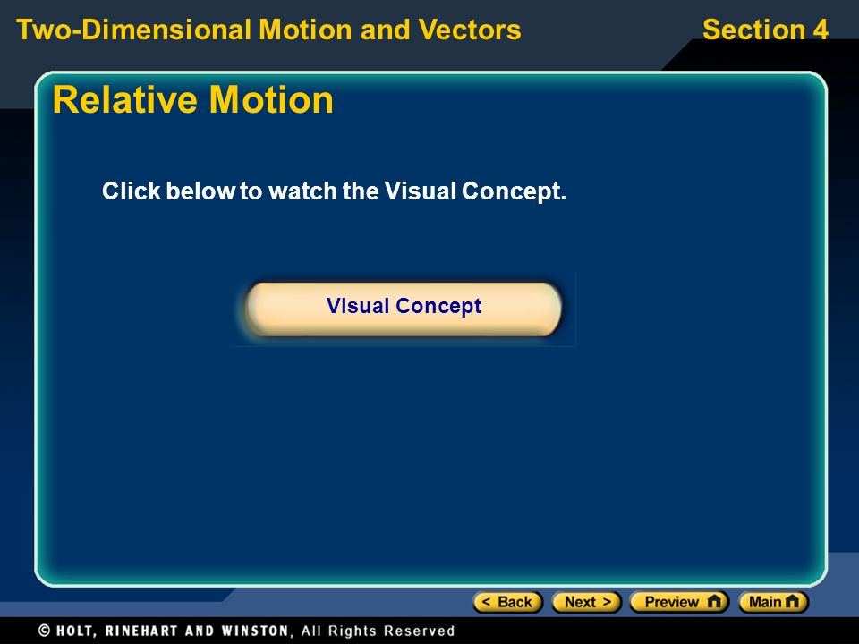 Relative Motion Click below to watch the Visual Concept.